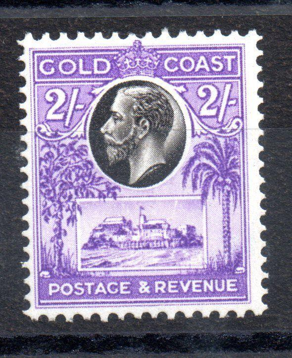 Gold Coast KGV 1928 2/- mint MH SG111 WS3535