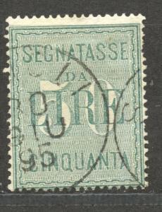 Italy, Postage Due, 1884, 50 Lire, VF  used, Scott # J 21, minor perf fault