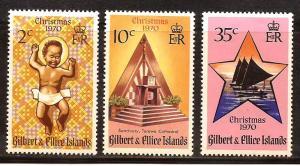 Gilbert & Ellice Islands  #  170 - 72  Mint  N H