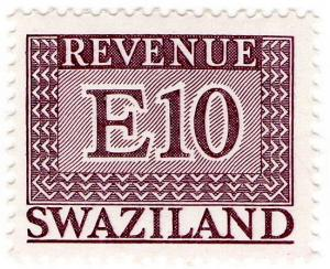 (I.B) Swaziland Revenue : Duty Stamp E10