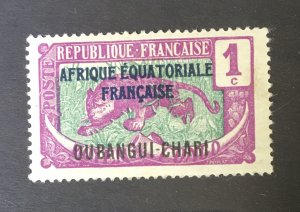 French Equatorial Africa Oubangui-Chari Overprint EarlyMint Hinged