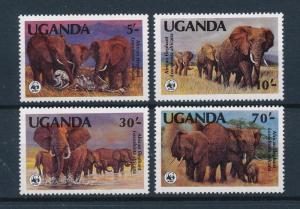 [54113] Uganda 1983 Wild animals Mammals WWF Elephant Perf. 15 MNH