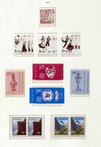 NORWAY 1976/79 Costumes Art Music Boats MNH Used (Appx 110+ Items)NT 6085
