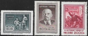 People's Republic of China 222-224 Used - 30th Death Anniversary of Lenin