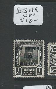 MALAYA JAPANESE OCCUPATION TRENGGANU (P2307B) 1C DN SG J119  VFU