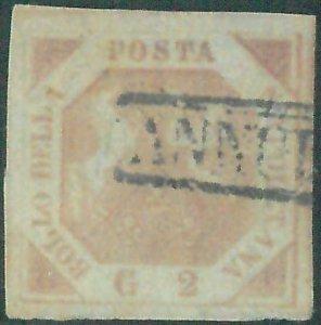 87667g - ANTICHI STATI:  NAPOLI  - 2 Grana  Sassone 5 o 6 o 7 - USATO