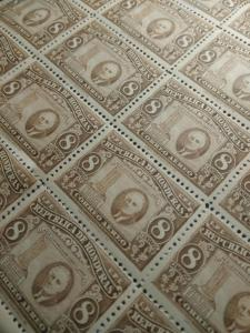 1946 (MNHOG) Honduras Honduran  Franklin D. Roosevelt 8 centavos Stamp sheet