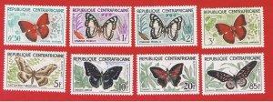Central Africa #4-11  MVFLH OG  Butterflies  Free S/H
