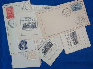 40 Railroad Post Office (RPO) Covers Fm 1960's (S17324)