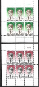 COLLECTION LOT OF 2 SHEETS 0F 6 NEW ZEALAND SEMI POSTAL MNH 1973 CV= $18