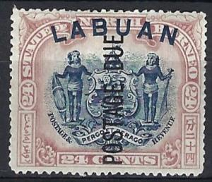 LABUAN   1901    24c Blue & Mauve        SGD9c    Mounted mint