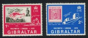 Gibraltar Fish Philympia Exhibition 2v SG#252-253 SC#238-239