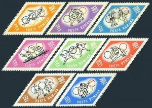 Romania 1665-1672,1672a,MNH.Mi 2309-18,Bl.58. Olympics Tokyo-1964.Fencing,Soccer