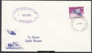 Australia 1971 (2 Feb) Space Cover OTC Radio Station Bringelly Apollo Mission