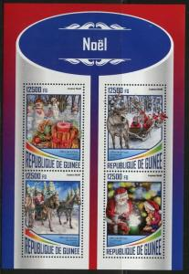 GUINEA 2017  CHRISTMAS SANTA CLAUS SHEET MINT NH