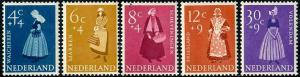 HERRICKSTAMP NETHERLANDS Sc.# B321-25 Costumes