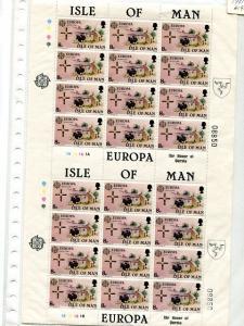 Isle of Man 1981 Europa sheet complete VF NH