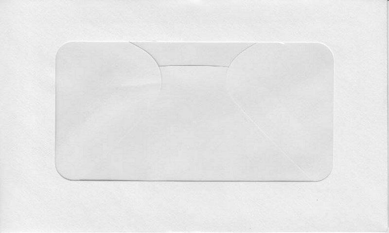 100 - Stamp Dealer Window Display Envelopes #2 - White Size 4 1/2x7  U488