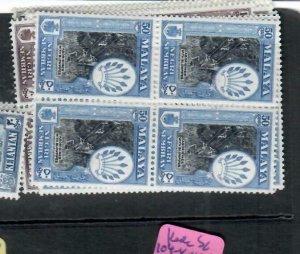 MALAYA  NEGRI SEMBILAN  (P1606B)  SG 68-76, 80   BL OF 4      MNH