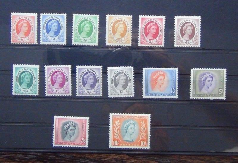 Rhodesia & Nyasaland 1954-56 set complete to 10s MM