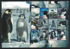 BAT Birds Penguins Sheetlet of 12 Face Value £10.80 SG#424-435
