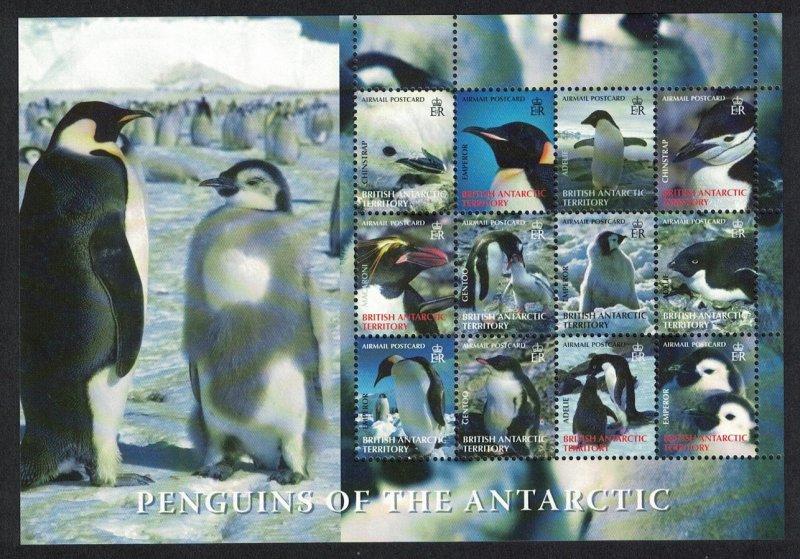 BAT Birds Penguins Sheetlet of 12 Face Value £10.80 SG#424-435