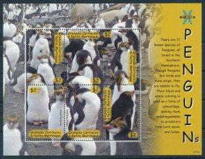 [108893] Carriacou & Petite Martinique 2007 Birds Royal Penguins Mini sheet MNH