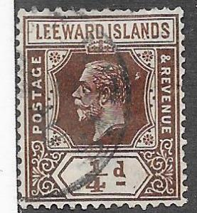 Leeward Islands #46  1/2p King George V (U) CV. $1.10