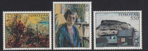 Faroe Islands 1985 MNH paintings complete