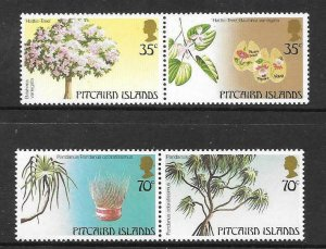 PITCAIRN ISLANDS SG242/5 1983 TREES OF PITCAIRN MNH