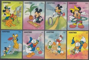 LESOTHO # 861-8 DISNEY STAMPS ISSUED to CELEBRATE POPULAR CHILDREN's GAMES