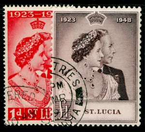 ST. LUCIA SG144-145, COMPLETE SET, VERY FINE USED. Cat £35. RSW