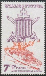 Wallis & Futtuna 1986  Aviso Commandant Blaison mint**