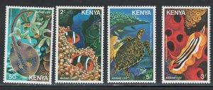 Kenya 1980 Marine Life Scott # 171 - 174 MH