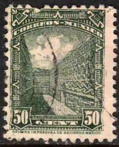MEXICO 849, 50¢ 1934 Definitive Wmk Gobierno...279 Used. F-VF. (932)