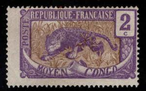 Moyen Middle Congo Scott 2 MH* stamp