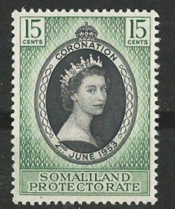 Somaliland # 127  QE II Coronation (1) Mint NH