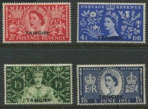 STAMP STATION PERTH GB Tangier Overprint #579-582 MLH  CV$8.00.