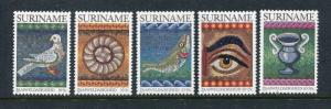 Suriname B279-B283, MNH, Bird Christmas 1983. x29142