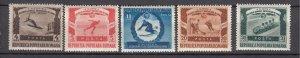 J27567 1951 romania set mh #768-72 sports