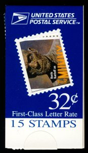 US #3168-73 BK269 MAKE-SHIFT BOOKLET, MOVIE MONSTERS, VF/XF mint never hinged...