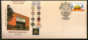India 2018 Karnataka Law Society Justice Law & Order Coat of Arms Special Cover