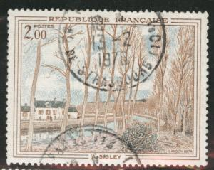 FRANCE Scott 1396 used 1974 stamp without tab