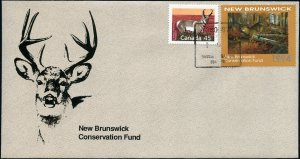 1994 New Brunswick Wildlife White Tail by H Lambson
