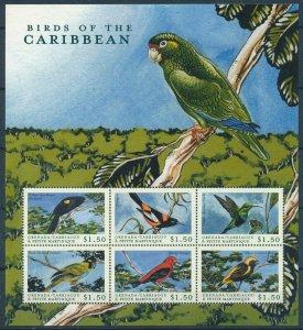 [108912] Carriacou & Petite Martinique 2000 Birds vögel oiseaux Mini sheet MNH
