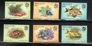 Belize SC705a-711a Beautiful Fish MNH 1988