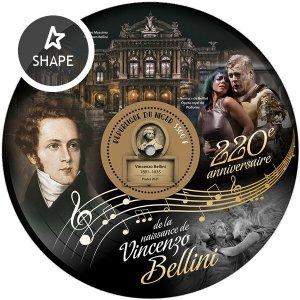 NIGER - 2021 - Vincenzo Bellini - Perf Souv Sheet - Mint Never Hinged