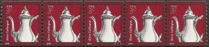 USA PNC SC# 3759  SILVER COFFEEPOT $0.03c PL# S1111 WATER ACTIVATED- PNC5 MNH