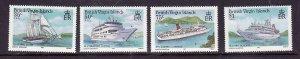 Virgin Is.-Sc#524-7-unused  NH set-Cruise Ships-id5-1986-