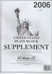 Harris United States Plate Block Supplement 2006